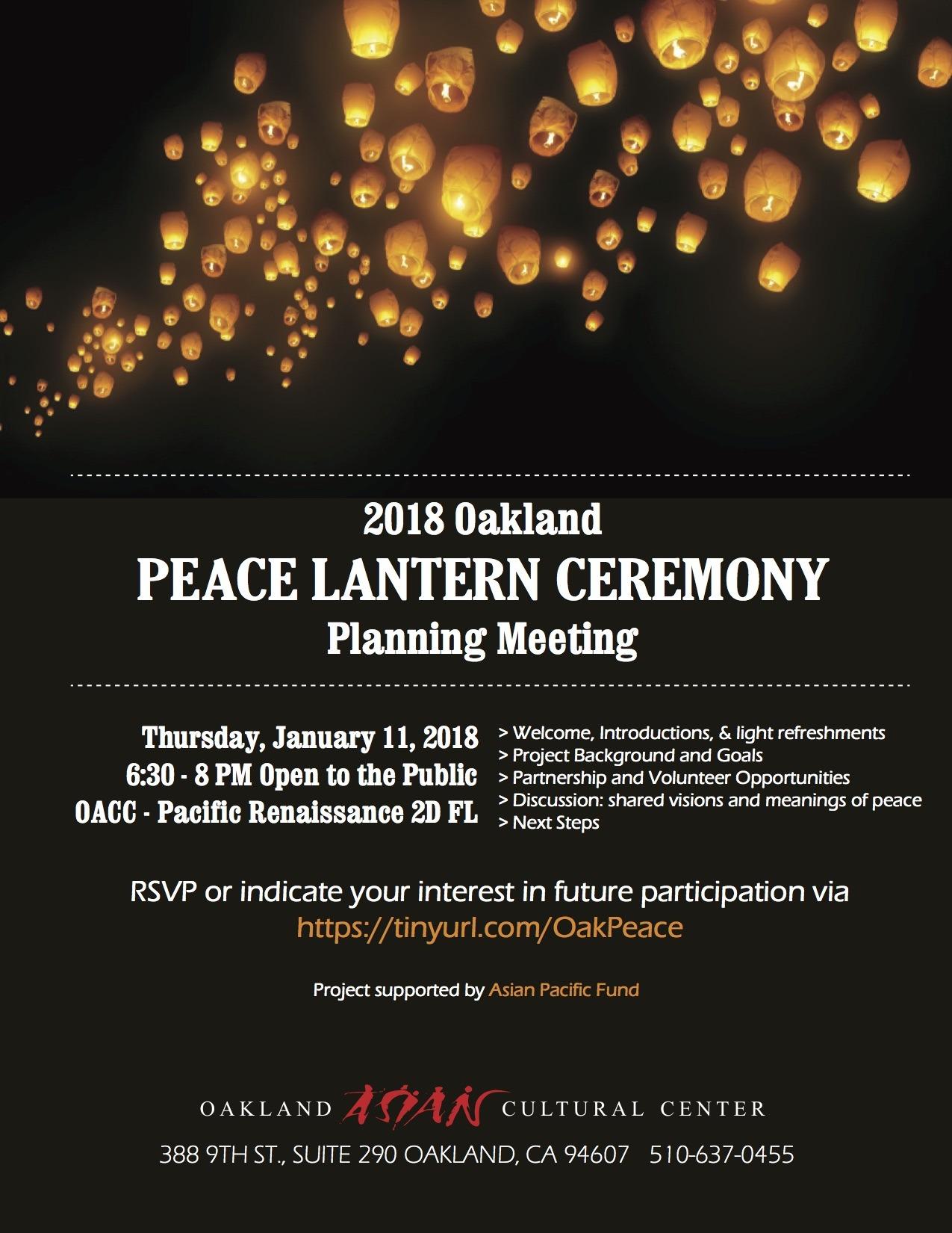 Oak Peace Lantern Planning Mtg1 flier corrected